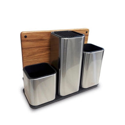 ORGANIZADOR PARA COCINA CON TABLA DE PICAR DE ROBLE-100COLLECTION-