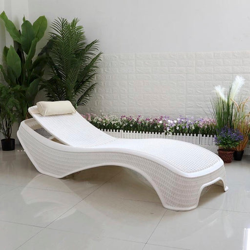 SILLA PARA SOL COLOR BLANCO O CHOCOLATE/ RESPALDAR AJUSTABLE