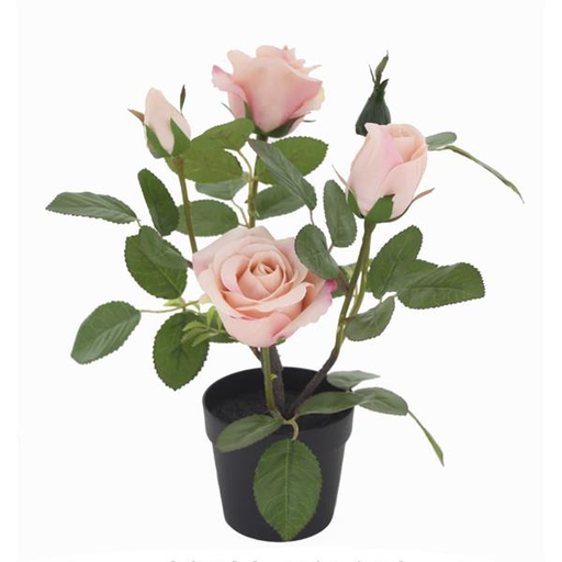 MACETERO CON PLANTA ARTIFICIAL(ECUADOR ROSE)
