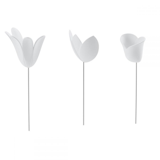 TULIPANES DECORATIVOS DE PARED 3D BLANCOS