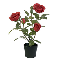 MACETERO CON PLANTA ARTIFICIAL(FRANCE ROSE)