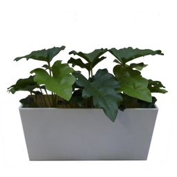 MACETERO CON PLANTA ARTIFICIAL(GREENERY CALADIUM BONSAI)