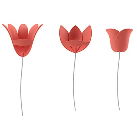 TULIPANES DECORATIVOS DE PARED  3D CORAL