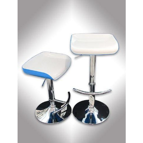 SILLA P/BAR (BLANCO & AZUL)