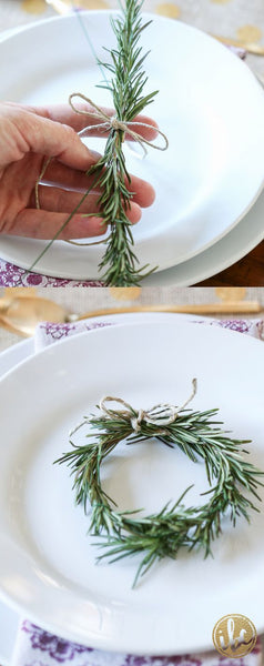 Great Christmas Plate Decoration - English Country Living