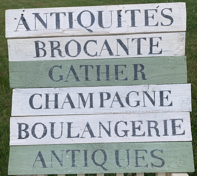 Hand Made Hand Painted Rustic Distressed Signs 100% Recycled Eco Friendly