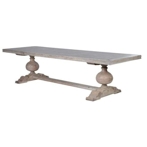 Extra Large Imperial French Style Distressed Dining Table with Motifs by The Interior Co