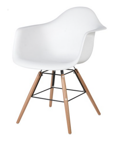 White Moulded Tub Chair - Classic Contemporary Styling