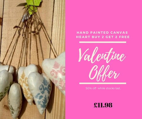 Free Canvas Hearts By The Interior Co and Shoeless Joe