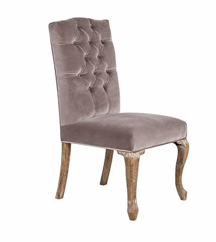 Mirabelle Chair - Platinum Velvet