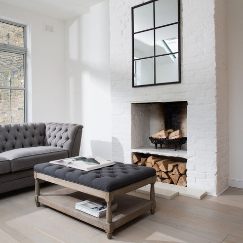 By adding a hint of Charcoal you are imediately adding that designer touch see how chic the charcoal against those pure white walls sharpens this look.