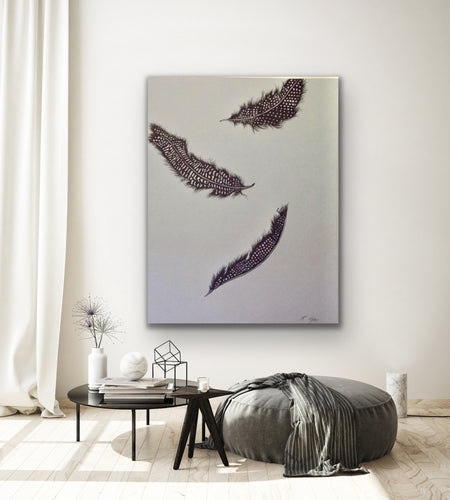 Heaven sent Original Acrylic canvas by Acclaimed Artist Kerrie Griffin available from The Interior Co 80 x 100 cm