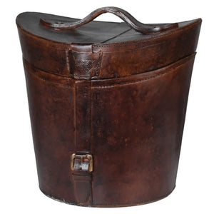 Leather Look Victorian Hat Box