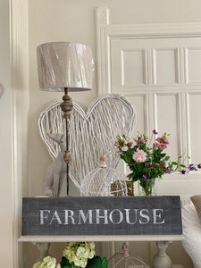 Large Distressed Standing Farmhouse Sign
