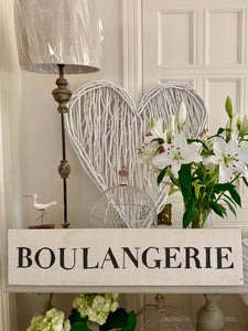 Large Distressed Standing Boulangerie Sign
