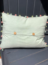 Load image into Gallery viewer, Susie Watson Appliqué 3 Daisy's Pom Pom Complete Cushion