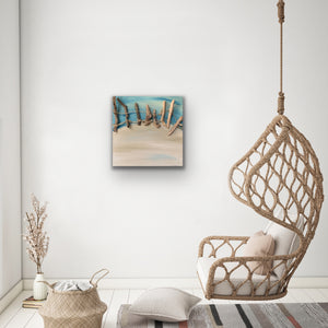 Drift Original Canvas With Driftwood Kerrie Griffin