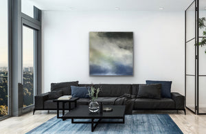 New Wave Original Canvas By kerrie griffin 90cm sq available at The Interior Co