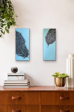 Load image into Gallery viewer, Perfect partners - Gineau Fowl Feather Original Painting On Canvas by Kerrie Griffin Available from The Interior Co