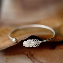Load image into Gallery viewer, Angel Feather 925 Sterling Silver Bracelet Bangle - Limited Edition