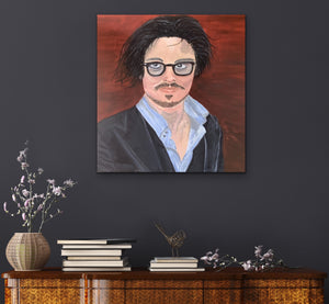 Johnny Depp Original Canvas By Kerrie Griffin  The InTerior Co