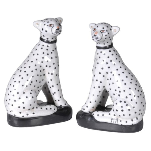 Set of 2 Sitting Leopards