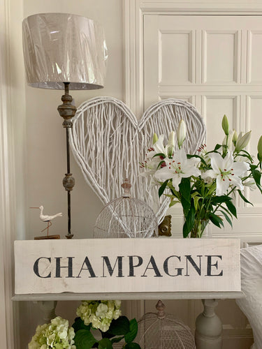 Large Distressed Standing Champagne Sign