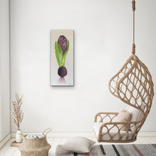 Load image into Gallery viewer, Organic Hyacinth Bulb Original Canvas By Kerrie Griffin The Interior Co