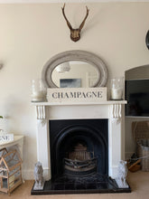 Load image into Gallery viewer, Large Distressed Standing Champagne Sign