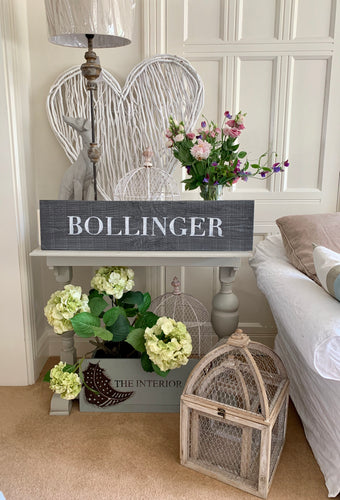 Large Distressed Standing Bollinger Sign