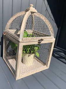 Set Of Two Chicken Wire Cage Lanterns