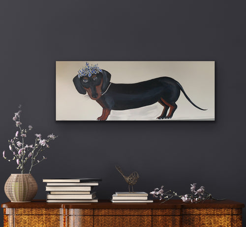 Dutches Daphne the Dash Hound  Original Canvas By artist Kerrie Griifin