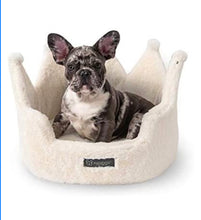 Load image into Gallery viewer, NANDOG Crown Collection Dog and Cat Bed (Ivory Cloud)