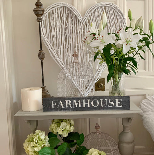 Hand Made Using 100% Recycled Wood Sign Farmhouse Hand Painted