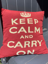 Load image into Gallery viewer, Keep Calm and Carry On Complete Cushion