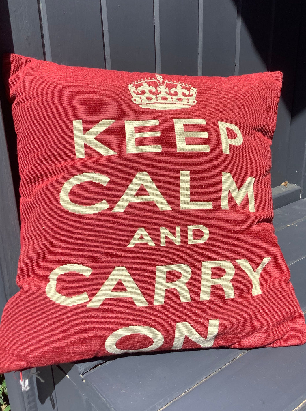Keep Calm and Carry On Complete Cushion