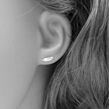 Load image into Gallery viewer, Angel Feather Earrings Sterling Silver - Limited Edition By Feathers Of Italy