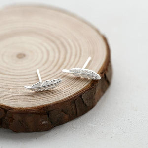 Angel Feather Earrings Sterling Silver - Limited Edition By Feathers Of Italy