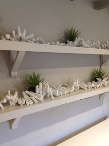 Long Driftwood Garland Painted White