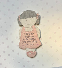 Load image into Gallery viewer, Wooden Fridge Magnet Friends Card by East Of India
