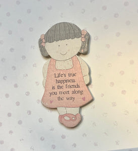 Wooden Fridge Magnet Friends Card by East Of India