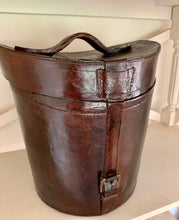 Load image into Gallery viewer, Leather Look Victorian Hat Box by The Interior Co