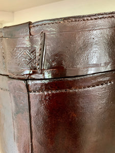 Leather Look Victorian Hat Box by The Interior Co