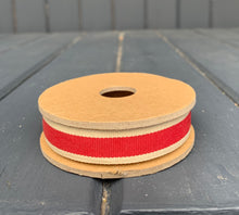 Load image into Gallery viewer, East Of India - Red Stripe Ribbon Spool