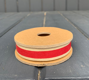 East Of India - Red Stripe Ribbon Spool