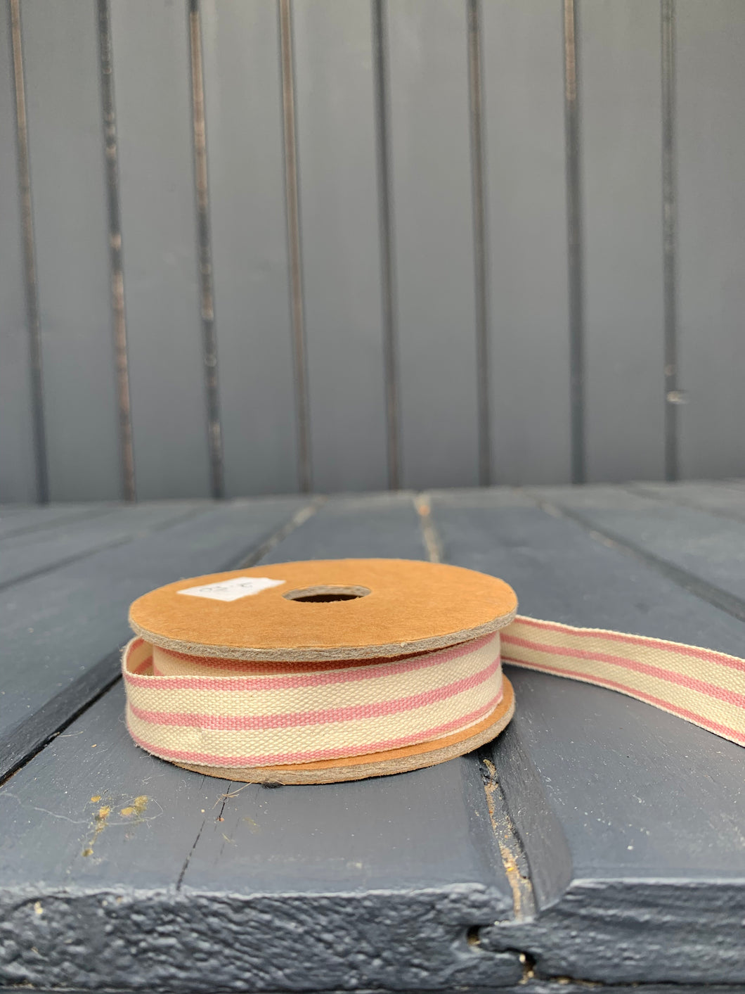 East Of India - Pink Stripe Ribbon Spool