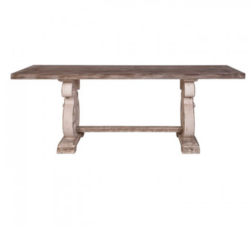 Lute Dining Table - Distressed - India Jane