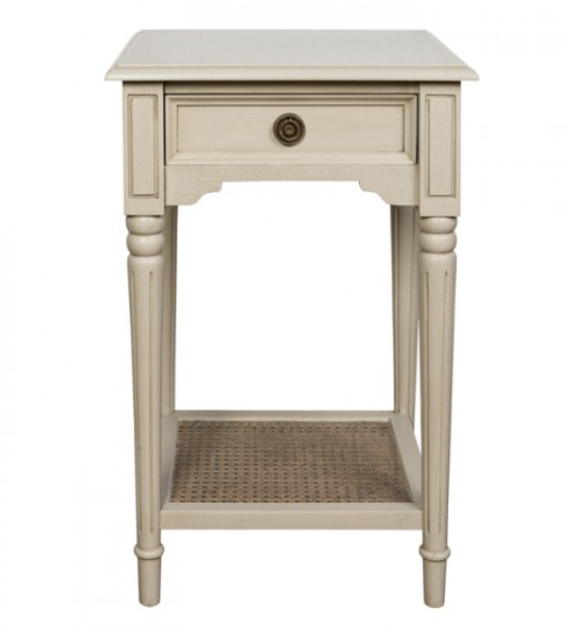 Avignon Bedside Table - Antique Cream - India Jane