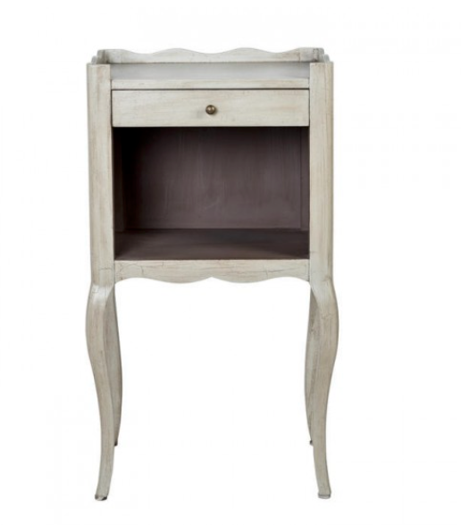 Belvedere Bedside Table Or Occasional Table - in Cream - India Jane