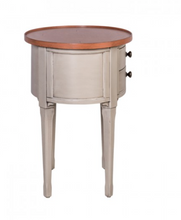 Load image into Gallery viewer, Oeil-de-Boeuf Oval Side Bedside Table Or Occasional Table - in Cream - India Jane